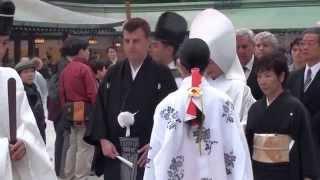 Япония. Синтоистские свадьбы в храме Мэйдзи.