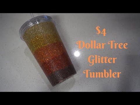 $4 Dollar Tree Glitter Tumbler!! I Period Six Designs