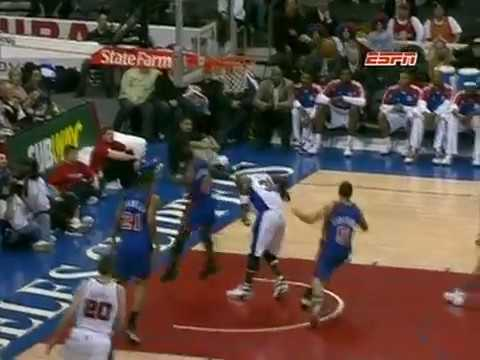 Nate Robinson Jumps OVER Ricky Davis to Block The Shot