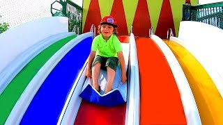 Ride on Rainbow Slides & Maze for Kids Magic Adventure to an Outdoor Playground