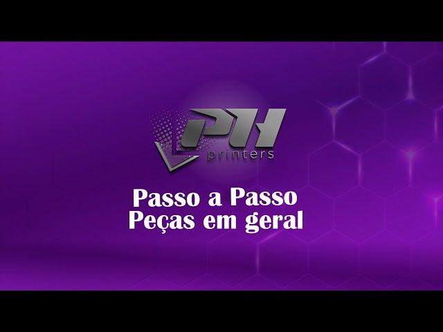 Passo a passo de utilização do gabarito de peças em geral - Impressora UV LED PH Flex - Ph Printers