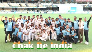 Ind vs Aus  gaba Chak de india song fan tribute