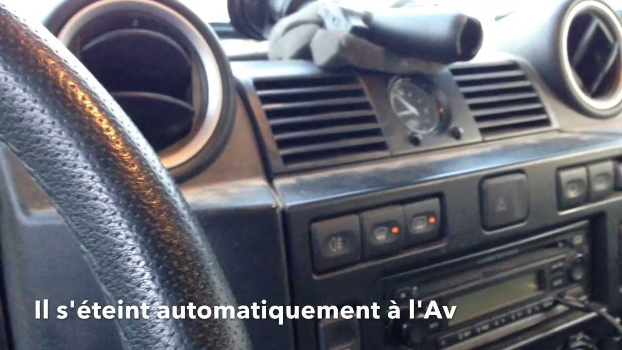 land rover defender heated windscreen pare brise d givant [ 1280 x 720 Pixel ]