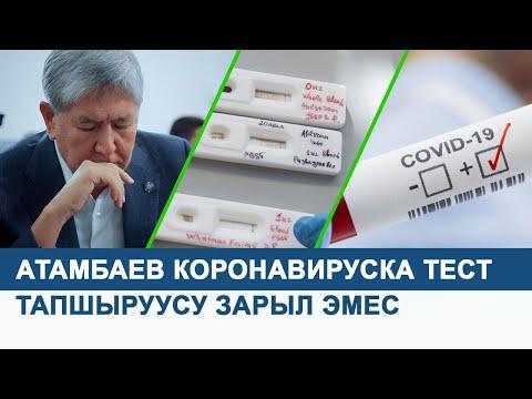 """""""Алмазбек Атамбаевдин коронавируска тест тапшыруусу зарыл эмес"""""""