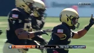 Army Football: Cam Jones Interception vs. Morgan State 9-21-19