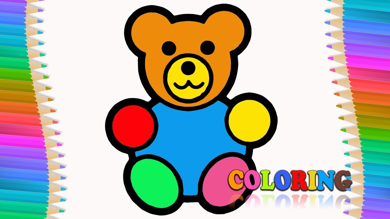 Gummy Bear Coloring Pages. How to draw Gummy Bear. Color Markers for ...