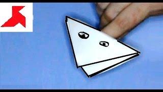 Как сделать квакающую лягушку из бумаги А4 своими руками?(Оригами лягушка из бумаги которая открывает рот, с помощью двух пальцев ваших рук. Тем самым имитирует мими..., 2015-09-08T15:48:18.000Z)