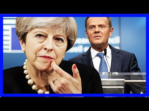 Donald tusk mocks britain as he says theresa may has two weeks to settle brexit bill