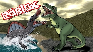 Roblox Movie   AQUATIC SPINOSAURUS ATTACKS - Jurassic Park! (Roblox Dinosaurs)