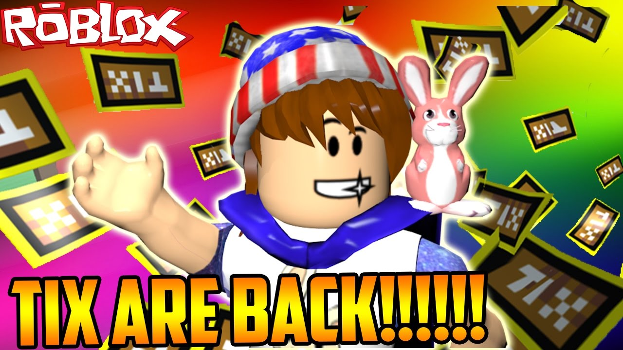 TIX ARE COMING BACK TO ROBLOX?!