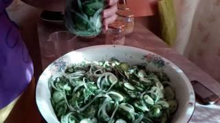 Нежинский салат из огурцов