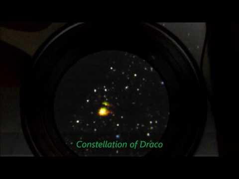 Stars In Constellations Of Lyra & Draco Deep Space Imaging