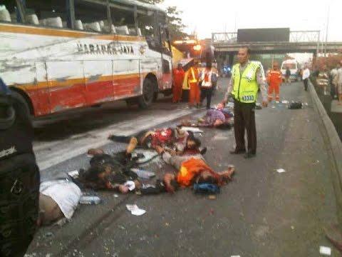 Bus Harapan Jaya Terguling, 7 Penumpang Tewas