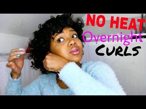 Overnight Heatless Curls On Short Hair Youtube