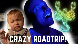 BABIES CRAZY ROAD TRIP AND SCORPION HUNT!