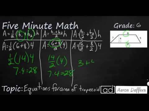 6th Grade Math - Equations for Area