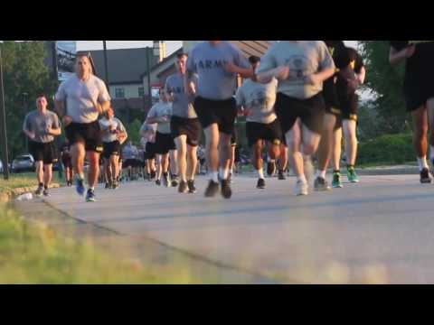 Paratroopers Fort Bragg,  Morning Running