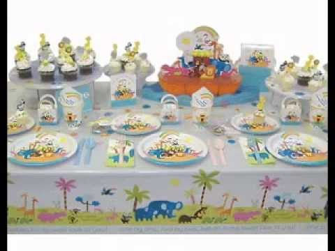 Baby shower table setting decorations ideas youtube for Baby shower decoration set