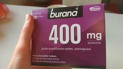 Burana 400mg Lääke Jauhe Oraaliliuosta Varten, Ibuprofeeni Annospussi [UNBOXING]