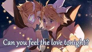 Nightcore - Can You Feel The Love Tonight (Switching Vocals) - (Lyrics)