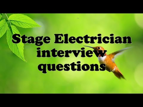 electrician interview questions
