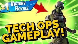 TECH OPS Skin Gameplay In Fortnite Battle Royale