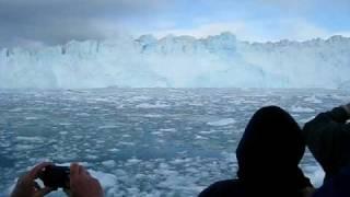 greenland eqi glacier ilulissat disco bay 4 super clip tonnes of ice falling avi