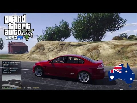 GTA 5 - LSPDFR Australia: Unmarked Holden Commodore Patrol along