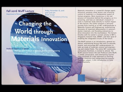 Changing the World through Materials Innovation