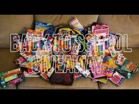 Huge Back-To-School Giveaway ( CLOSED )