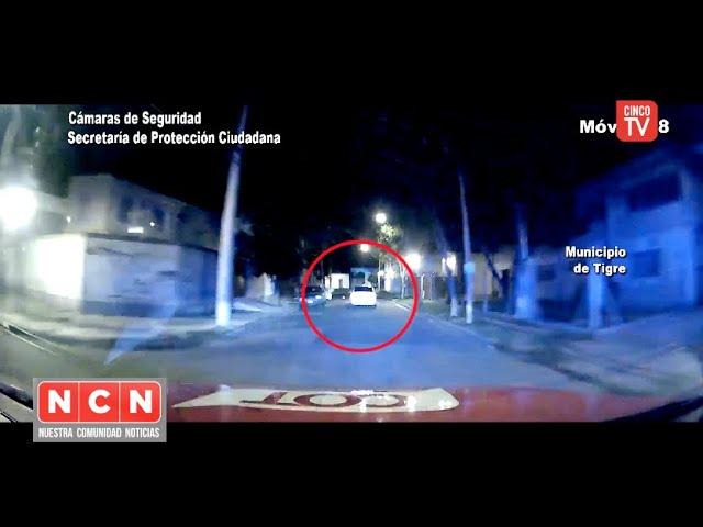 CINCO TV - Huida y persecución: evadió un control vehicular y el COT lo detuvo