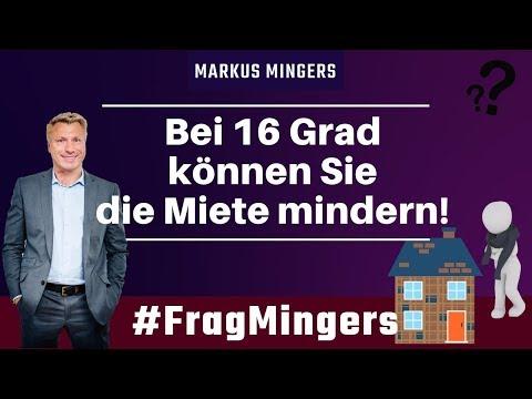 Bei 16 Grad können Sie die Miete mindern! | #FragMingers
