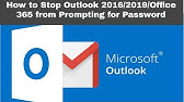 Fix: Outlook 2016 looping blank authentication box pop up