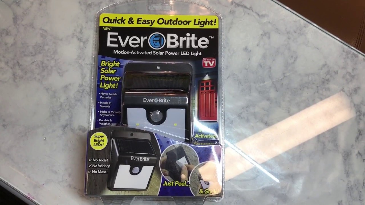 Ever Brite Outdoor Light As Seen On Tv Review Youtube