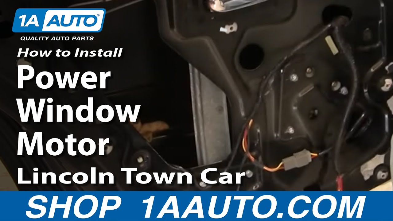 how to replace power window motor 90 09 lincoln town car [ 1280 x 720 Pixel ]