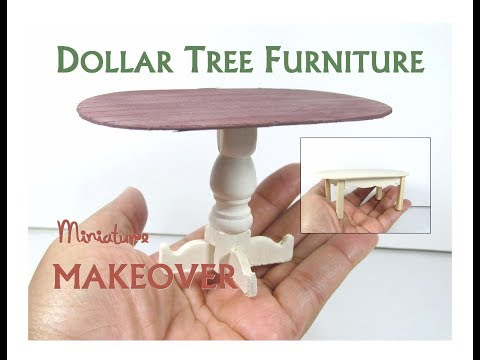 Dollar Tree to Luxury Miniature Furniture Makeover DIY Farmhouse Dining KitchenTable