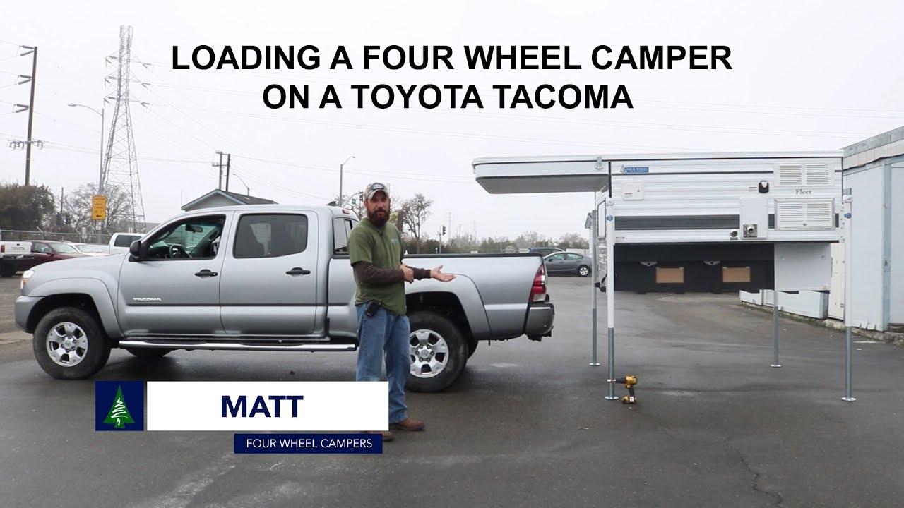 Four Wheel Pop Up Truck Camper Installation Loading Unloading