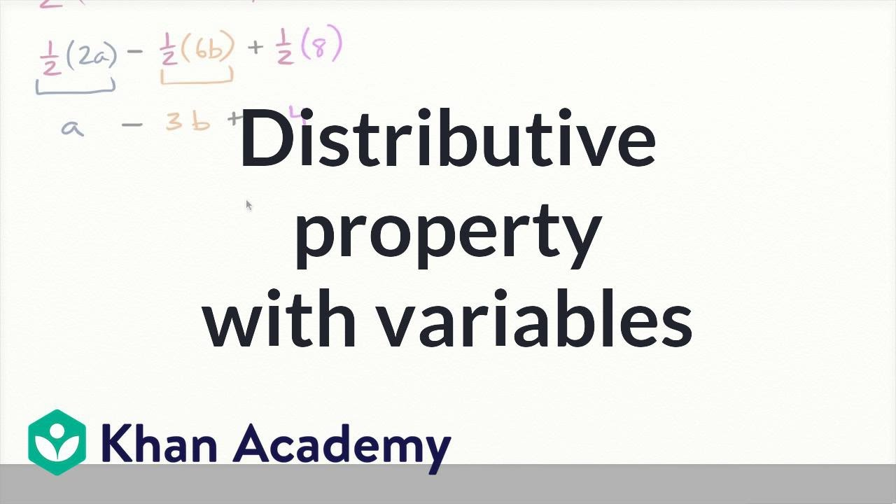 Distributive property with variables (video)   Khan Academy [ 720 x 1280 Pixel ]