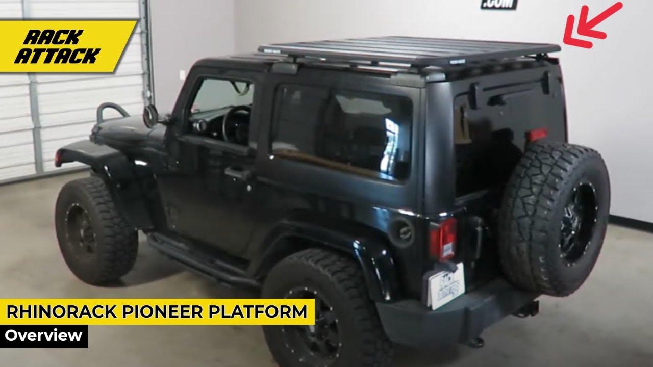 jeep wrangler jk 2 door hardtop with rhino rack pioneer platform backbone rack