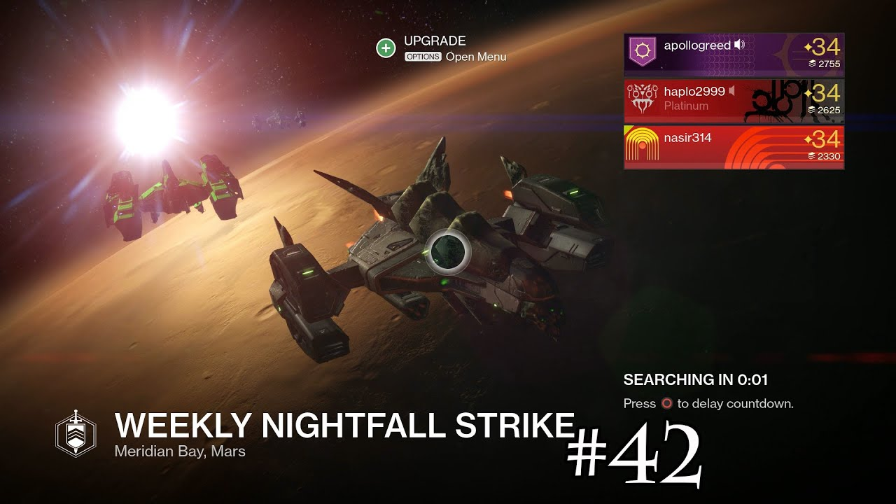 Does the weekly nightfall strike have matchmaking