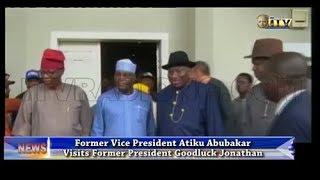 Atiku Abubakar visits Goodluck Jonathan