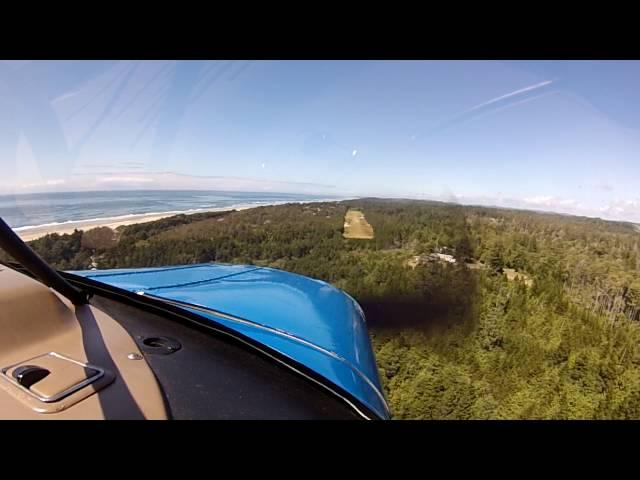 Piper Colt - landing at Wakonda Beach (Waldport) OR R33