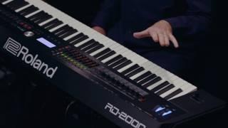 Roland RD-2000 walk-through :  Scene Function demo