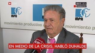 En medio de la crisis, hablo el expresidente Eduardo Duhalde