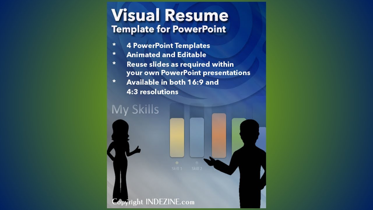 Visual Resume Template for PowerPoint