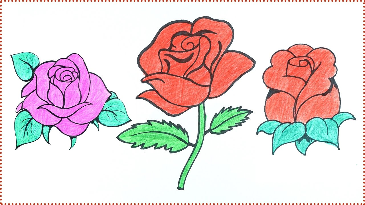 How to Draw A Rose- Easy Rose Drawing Tutorial Step by ...