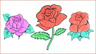 rose draw easy drawing tutorial step drawings getdrawings paintingvalley
