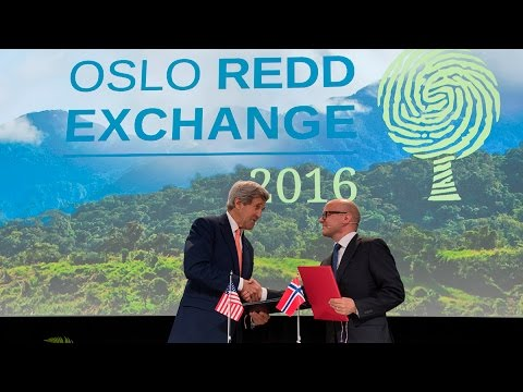 Oslo Redd Exchange 2016: Signing of  joint statement - Norway and the US