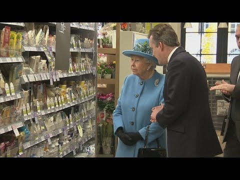 Unexpected royal in bagging area? Queen visits Waitrose