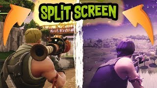 Getting A SPLIT SCREEN Victory Royale | High Kill Gameplay | Fortnite: Battle Royale